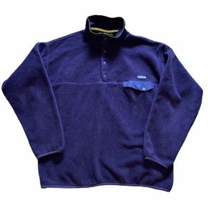Patagonia Womens Snap-T Pullover Purple Size XL